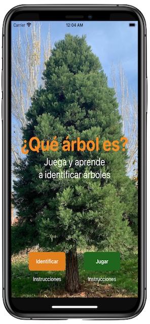 Pantalla de la app QAE - Qué Árbol Es